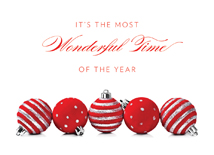 The Most Wonderful Time! Ornament Christmas Cards