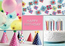Festive Frames Birthday Cards
