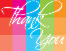 Rainbow Block Thank You Card